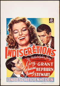 """The Philadelphia Story (MGM, 1947). Rolled, Very Fine-. First Release Belgian (16.25"""" X 23.25""""). Comedy"""