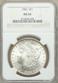 1882 $1 MS64 NGC. NGC Census: (7613/1492). PCGS Population: (6542/2322). CDN: $92 Whsle. Bid for problem-free NGC/PCGS M...