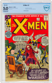 X-Men #2 Married Wrap (Marvel, 1963) CBCS VG/FN 5.0 Off-white to white pages