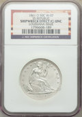 Seated Half Dollars, 1861-O 50C -- Shipwreck Effect -- NGC Details. Unc. Ex: S.S. Republic, Wiley-07, a Louisiana Issue. NGC Cen...