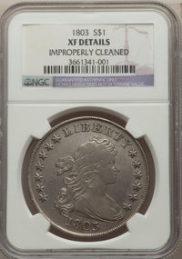 1803 $1 Small 3 -- Improperly Cleaned -- NGC Details. XF. NGC Census: (39/121). PCGS Population: (45/93). CDN: $3,600 Wh...
