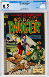 Date With Danger #5 (Standard, 1952) CGC FN+ 6.5 Off-white to white pages