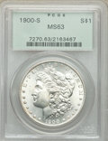 Morgan Dollars: , 1900-S $1 MS63 PCGS. PCGS Population: (1824/2677). NGC Census: (979/1129). CDN: $360 Whsle. Bid for problem-free NGC/PCGS M...