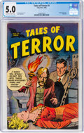 Golden Age (1938-1955):Horror, Tales of Terror #1 (Toby Publishing, 1952) CGC VG/FN 5.0 Off-white to white pages....