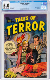 Tales of Terror #1 (Toby Publishing, 1952) CGC VG/FN 5.0 Off-white to white pages