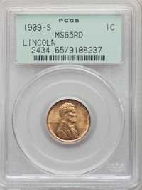 1909-S 1C MS65 Red PCGS. PCGS Population: (481/162). NGC Census: (171/67). CDN: $725 Whsle. Bid for problem-free NGC/PCG...
