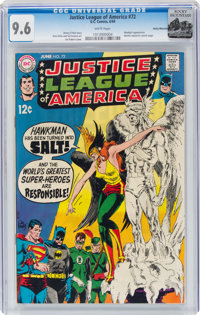 Justice League of America #72 Rocky Mountain Pedigree (DC, 1969) CGC NM+ 9.6 White pages