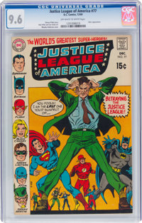 Justice League of America #77 (DC, 1969) CGC NM+ 9.6 Off-white to white pages