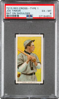 Baseball Cards:Singles (Pre-1930), 1912-13 T215 Red Cross (Type 2) Joe Tinker (Bat On) PSA EX-MT 6 - The Only PSA Graded Example! ...