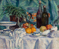 Lucie Cousturier (French, 1878-1925) Nature morte, 1900 Oil on canvas 19-3/4 x 24 inches (50.2 x