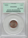 Philippines: USA Administration 1/2 Centavo 1903 MS66 Red and Brown PCGS