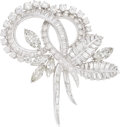 Estate Jewelry:Brooches - Pins, Diamond, Platinum, White Gold, Pendant-Brooch-Necklace. ...