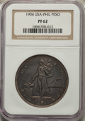 Philippines, Philippines: USA Administration Proof Peso 1904 PR62 NGC,...