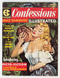 Confessions Illustrated #1 (EC, 1956) Condition: FN/VF