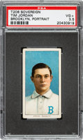 Baseball Cards:Singles (Pre-1930), 1909-11 T206 Sovereign 150 Tim Jordan (Portrait-Brooklyn) PSA VG+ 3.5 - Rare Sovereign Entry! ...
