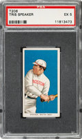 Baseball Cards:Singles (Pre-1930), 1909-11 T206 Sovereign 350 Tris Speaker PSA EX 5 - Pop One, Three Higher for Brand. ...