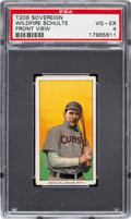 Baseball Cards:Singles (Pre-1930), 1909-11 T206 Sovereign 150 Wildfire Schulte (Front View) PSA VG-EX 4 - Highest PSA Example, Total Pop Only Six for Brand!...