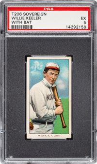 1909-11 T206 Sovereign 150 Willie Keeler (With Bat) PSA EX 5 - Pop One, None Higher for Brand/Series