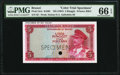 Brunei Government of Brunei 5 Ringgit ND (1967) Pick 2cts KNB2 Color Trial Specimen PMG Gem Uncirculated 66 EPQ