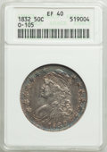 1832 50C Small Letters, O-105, R.3, XF40 ANACS. Mintage 4,797,000