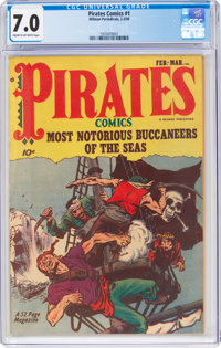 Pirates Comics #1 (Hillman Publications, 1950) CGC FN/VF 7.0 Cream to off-white pages