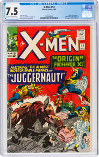 X-Men #12 (Marvel, 1965) CGC VF- 7.5 Off-white to white pages