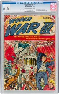 World War III #1 (Ace, 1953) CGC FN+ 6.5 Off-white to white pages