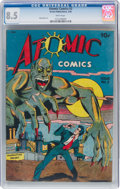 Golden Age (1938-1955):Horror, Atomic Comics #2 (Green Publishing Co., 1946) CGC VF+ 8.5 White pages....