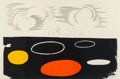 Prints & Multiples, Alexander Calder (1898-1976). Clouds and Discs, mid-20th century. Lithograph in colors on paper. 30 x 45-1/4 inches (76....