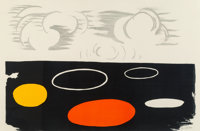 Alexander Calder (1898-1976) Clouds and Discs, mid-20th century Lithograph in colors on paper 30 x 45-1/4 inches (76