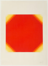 Herbert Bayer (1900-1985) Four Yellow Corners, 1969 Screenprint in colors on paper 30-3/4 x 22-1/2 inches (78.1 x 57