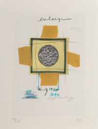 Claes Oldenburg (b. 1929) Biscuit, Mounted, London, 1966, from Notes in Hand, 1972 Offset lithograph in colors on