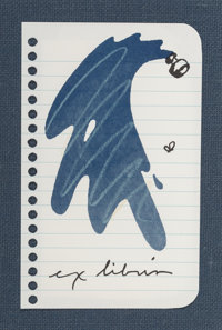Claes Oldenburg (b. 1929) Untitled (Ex Libris for Printed Matter), 1991 Lithograph in colors on Mohawk paper 5 x 3-1/