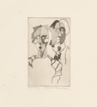 Jeanette Pasin Sloan (b. 1946) Untitled, late 20th century Etching on paper 7-7/8 x 7 inches (20 x 17.8 cm) (sheet)