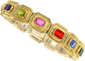 Estate Jewelry:Bracelets, Multi-Stone, Gold Bracelet, Theo Fennell, English . ...