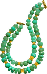 Chrysoprase, Gold Necklace, Verdura