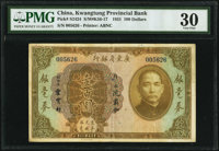 China Kwangtung Provincial Bank 100 Dollars 1931 Pick S2424 S/M#K56-17 PMG Very Fine 30