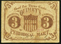 Obsoletes By State:New Hampshire, Manchester, NH- Quimby's Periodical Mart 3¢ ND (ca. 1862-63) Very Good-Fine.. ...