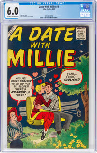 A Date With Millie #3 (Atlas, 1960) CGC FN 6.0 Cream to off-white pages