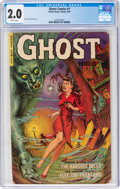 Golden Age (1938-1955):Horror, Ghost #1 (Fiction House, 1951) CGC GD 2.0 Brittle pages....