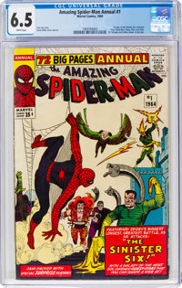 The Amazing Spider-Man Annual #1 (Marvel, 1964) CGC FN+ 6.5 White pages