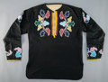 American Indian Art:Beadwork and Quillwork, An Otoe Man's Beaded Cloth Shirt...
