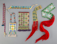 Six Great Lakes Loom-beaded Items... (Total: 6 )