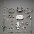American Indian Art:Jewelry and Silverwork, Nineteen Southwest Jewelry Items... (Total: 19 )