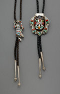 American Indian Art:Jewelry and Silverwork, Two Zuni Bolo Ties... (Total: 2 )