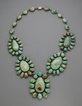 American Indian Art:Jewelry and Silverwork, A Large Southwest Necklace...