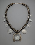 American Indian Art:Jewelry and Silverwork, A Southwest-style Squash Blossom Necklace...