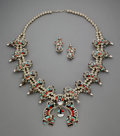 American Indian Art:Jewelry and Silverwork, A Zuni Jewelry Suite... (Total: 2 )