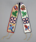 American Indian Art:Beadwork and Quillwork, A Great Lakes Beaded Cloth Sash...