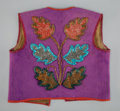 American Indian Art:Beadwork and Quillwork, An Omaha Beaded Cloth Vest...